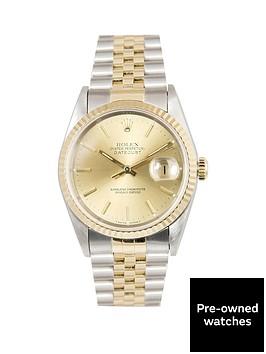 rolex-rolex-bimetal-datejust-champagne-36mm-dial-steel-amp-18k-yellow-gold-men039s-watch-including-paperwork