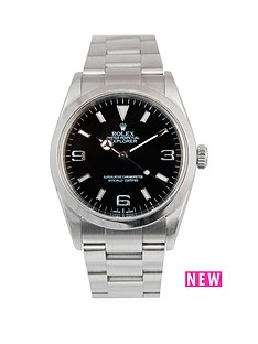 rolex-rolex-explorer-i-black-3-6-amp-9-36mm-dial-stainless-steel-oyster-bracelet-men039s-watch-2004-pre-own