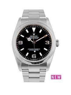 rolex-rolex-explorer-i-black-3-6-amp-9-36mm-dial-stainless-steel-oyster-bracelet-men039s-watch-including-pape