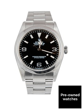 rolex-rolex-explorer-i-black-3-6-amp-9-36mm-dial-stainless-steel-oyster-bracelet-men039s-watch-including-pape
