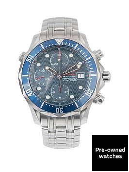 omega-omega-seamaster-chronograph-blue-415mm-dial-and-bezel-insert-stainless-steel-men039s-watch-2004-pre
