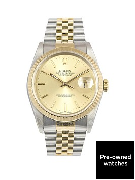 rolex-rolex-bimetal-datejust-champagne-36mm-dial-steel-amp-18k-yellow-gold-men039s-watch-1990-pre-owned