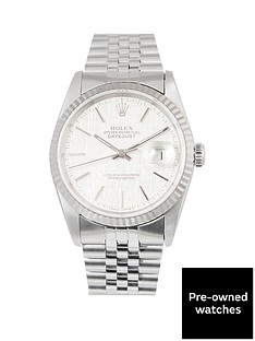 rolex-rolex-datejust-original-silver-linen-effect-36mm-dial-stainless-steel-men039s-watch-1989-pre-owned