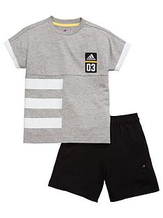 adidas-younger-boys-shorts-set