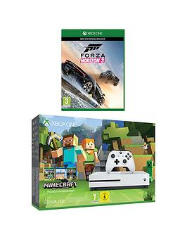 xbox-one-s-500gb-console-minecraft-favourites-bundle-with-forza-horizon-3-plus-optional-12-months-live-gold-andor-an-extra-xbox-one-wireless-controller