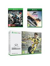500Gb Console with FIFA17, Gears of War 4, Forza Horizon 3 plus Optional 12 Months Xbox Live and/or Extra Controller