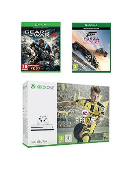 xbox-one-s-500gb-console-with-fifanbsp17-gears-of-war-4-forza-horizon-3-plus-optional-12-months-xbox-live-andor-extra-controller