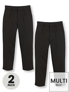 v-by-very-schoolwearnbspboys-classic-woven-school-trousers-blacknbsp2-pack