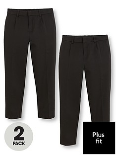 v-by-very-boys-2-pack-classic-woven-plus-fit-school-trousers-black