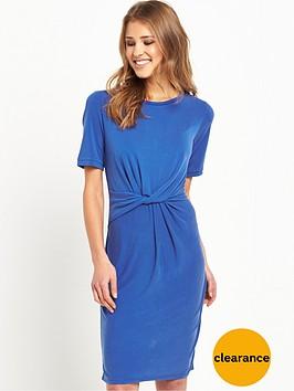 selected-femme-sasha-knot-dress-mazarine-blue