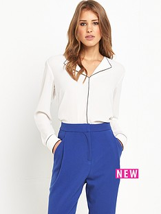 selected-femme-piper-pyjama-blouse-snow-white