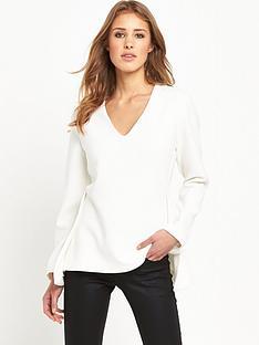 selected-femme-emma-v-neck-top-snow-white