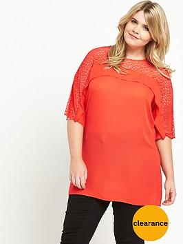v-by-very-curve-lace-amp-frill-yoke-tunic-orange