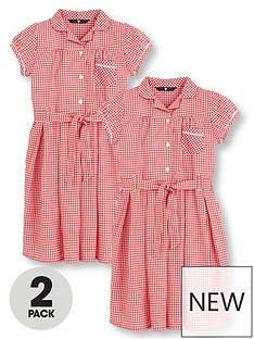 v-by-very-schoolwear-girls-traditional-summer-gingham-school-dresses-red-2-pack