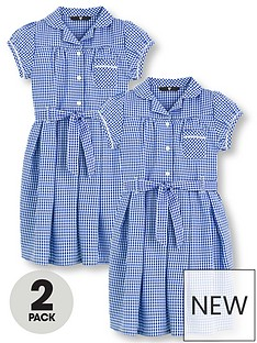 v-by-very-schoolwear-girls-traditional-summer-gingham-school-dresses-blue-2-pack