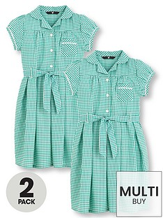 v-by-very-schoolwear-girls-traditional-gingham-school-dresses-green-2-pack