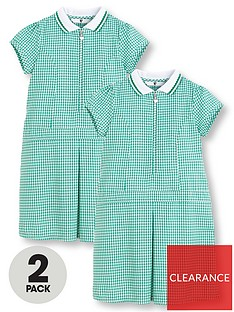 v-by-very-2-pack-girls-rib-collar-summer-gingham-school-dressesnbsp--green