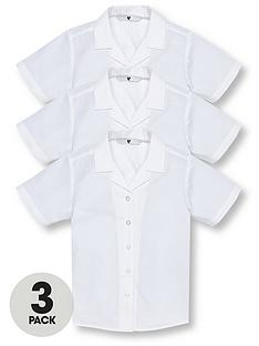 v-by-very-schoolwear-girls-short-sleeve-revere-school-blouses-white-3-pack