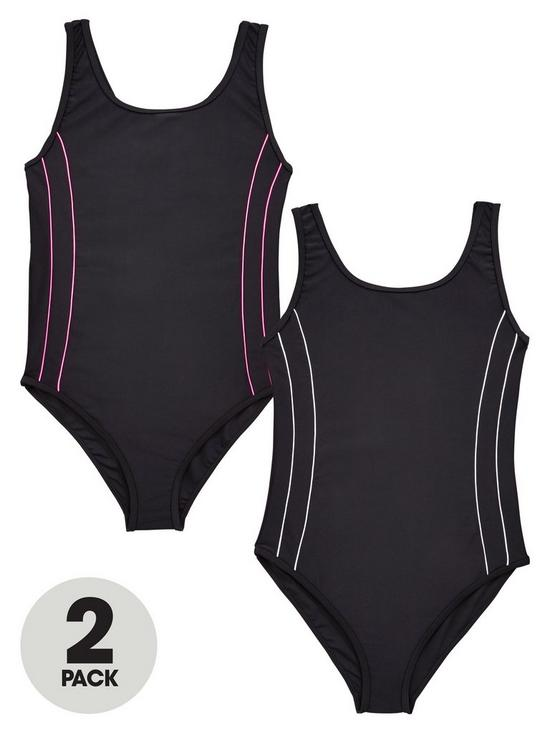 V By Very Schoolwear Girls Basic Swimming Costume Verycouk