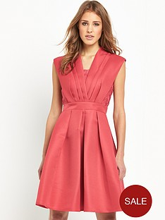 little-mistress-structured-pleat-skater-dress-terracottanbsp