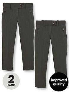 v-by-very-girls-2-pack-skinny-school-trousers-grey