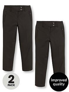 v-by-very-schoolwear-girls-pk2-skinny-trousers