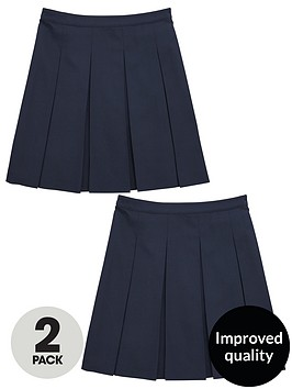v-by-very-girls-2-pack-classic-pleated-woven-school-skirtsnbsp