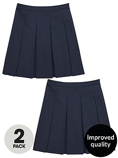 v-by-very-schoolwear-girls-pk2-classic-pleated-skirts