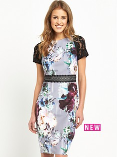 little-mistress-floral-bodycon-dress-with-crochet-lace-trim-waist