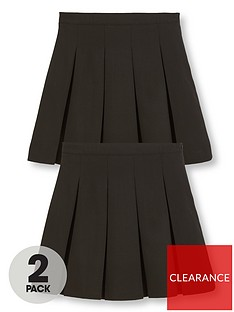 v-by-very-girls-2-pack-classic-pleated-woven-plus-fit-school-skirts-black