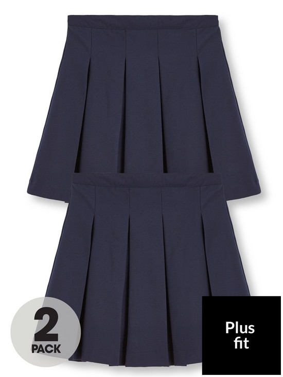 e15ea3a7d V by Very Girls 2 Pack Classic Pleated Woven School Skirts - Navy ...
