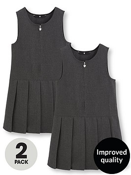 v-by-very-schoolwear-girls-pk2-pleat-pinafore