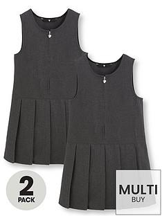 v-by-very-schoolwearnbspgirls-pleated-pinafore-school-dresses-grey-2-pack