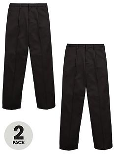 v-by-very-boys-2-pack-zip-front-school-trousers-black