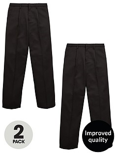 v-by-very-schoolwear-boys-2-pack-zip-front-trousers-black