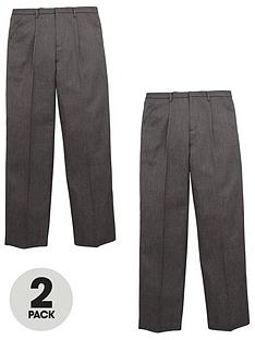 v-by-very-schoolwearnbspboys-pull-on-school-trousers-grey-2-pack
