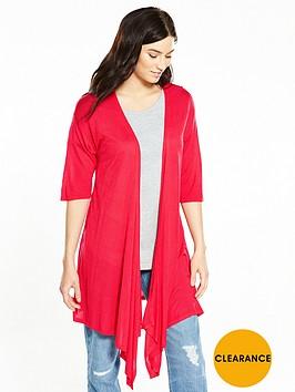 v-by-very-drape-front-lightweight-waterfall-cardigan-raspberry