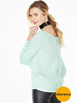 v-by-very-batwing-sleeve-lattice-back-jumper