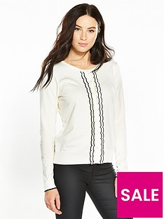 v-by-very-frill-contrast-centre-front-cardigan