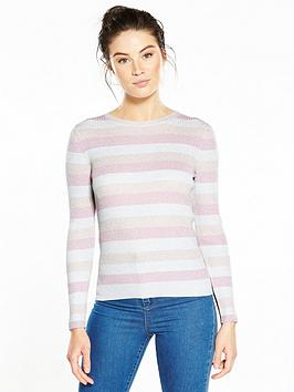 v-by-very-metallic-knit-jumper