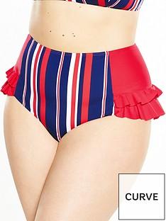 lovedrobe-stripe-high-waist-bikini-pant