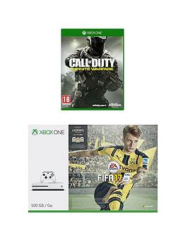 xbox-one-s-s-500gb-console-with-fifa-17-call-of-duty-infinite-warfare-and-optional-extra-controller-andor-12-months-live-subscription