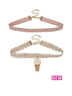 river-island-2pk-fillagree-lace-choker