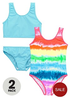 v-by-very-girls-tie-dye-swimsuits-and-blue-tankini-set-2-pack