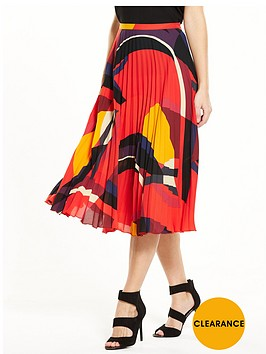 v-by-very-colourblock-printed-pleated-skirt