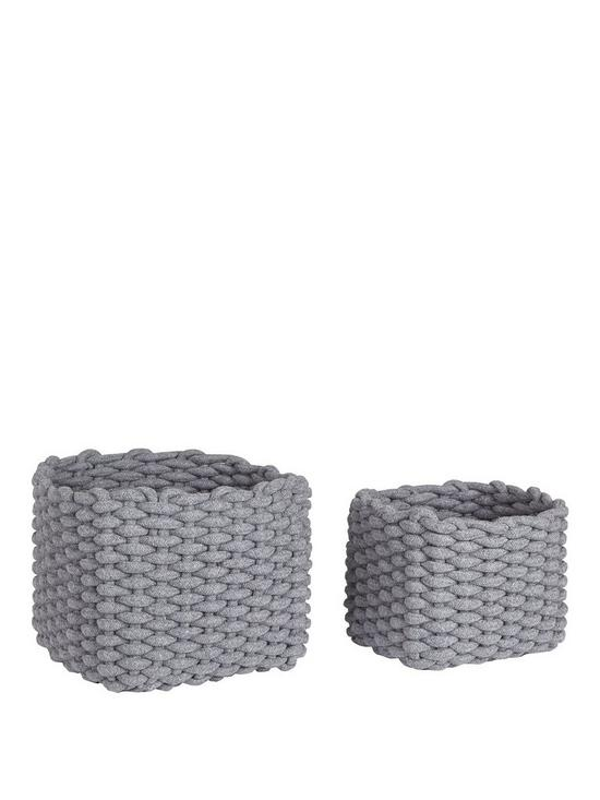 18241359bc0d SET OF 2 COTTON ROPE BASKETS | very.co.uk