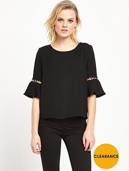 river-island-umbrella-sleeve-top-black