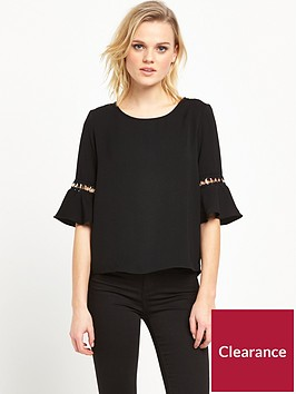 river-island-umbrella-sleeve-top-black