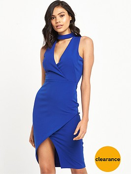 river-island-river-island-bodycon-dress-with-choker-detail