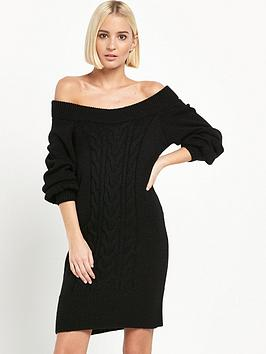 river-island-cable-knit-dress